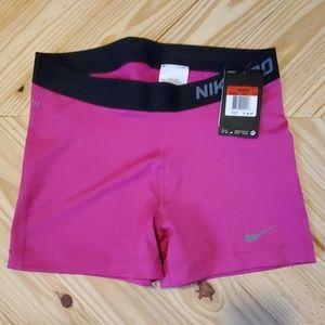 NWT Nike Pro Combat Pink Compression Shorts L